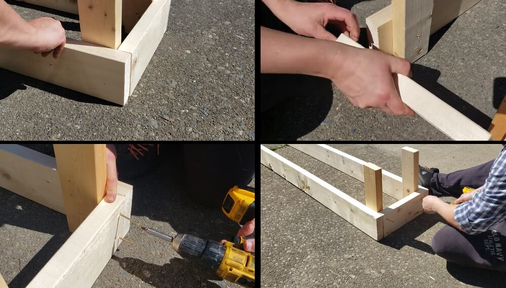 assemble the full bottom section of the bed