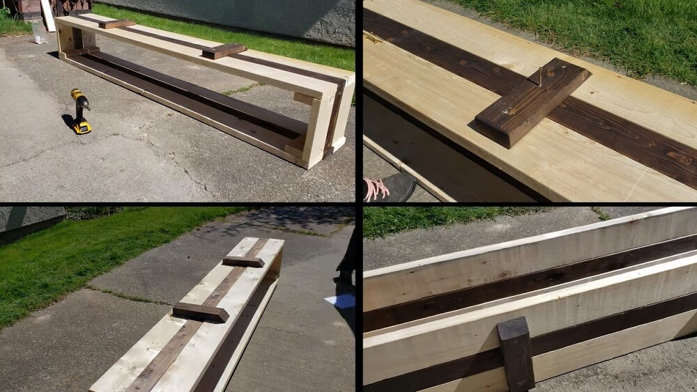four extra pieces of wood leftover